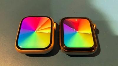 Cận cảnh màn hình của Apple Watch Series 7, màn hình lớn hơn, kích thước vỏ máy tăng lên một chút