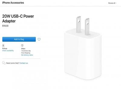 Không trang bị sạc theo hộp cho iPhone 12 series, Apple đăng bán sạc 20W với giá $19