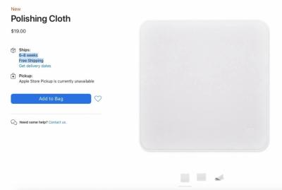 Apple ra mắt khăn lau màn hình máy tính, giá cực rẻ chỉ 400.000 đồng