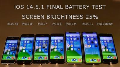 Kiểm tra độ hao pin của iOS 14.6 trên iPhone 11, iPhone 8, iPhone SE