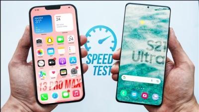 So găng tốc độ và độ đa nhiệm của iPhone 13 Pro Max và Samsung Galaxy S21