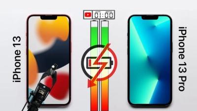 Test pin trên iPhone 13 và iPhone 13 Pro, màn hình ProMotion cho kết quả tuyệt vời