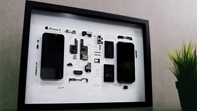 Trên tay tác phẩm nghệ thuật từ nội thất của iPhone X, dấu ấn lịch sử được lưu giữ lại