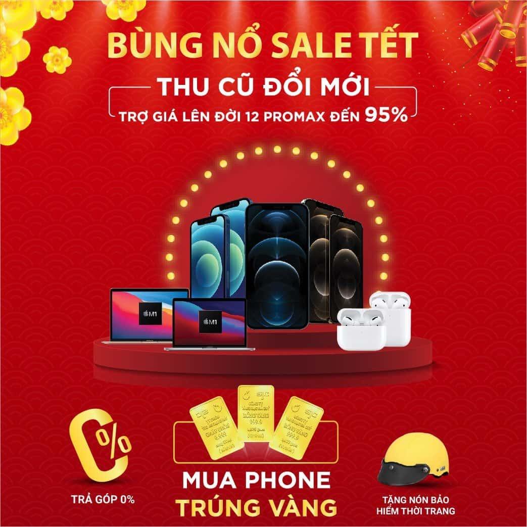 Mừng Xuân sang - ring vàng may mắn, Mua iPhone cơ hội rút trúng 1 chỉ vàng SJC mỗi tuần tại Minh Tuấn mobile
