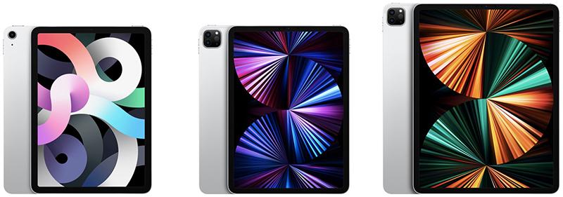Kích thước màn hình iPad Air vs iPad Pro