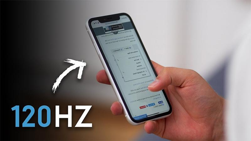 Tốc độ làm tươi 120Hz trên iPhone 1