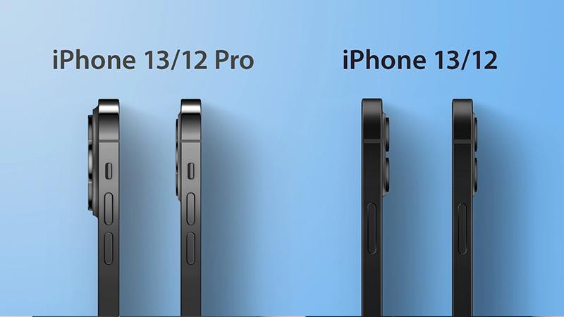 Độ dày camera giữa iPhone 13 và iPhone 12