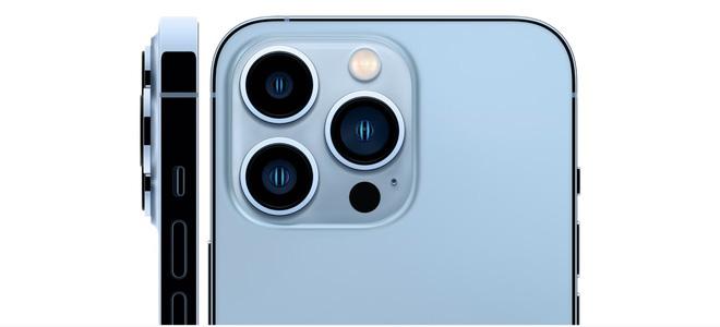 iPhone 13 Pro Max camera 12MP và mắt quét LIDAR sắp xếp trong ô vuông đẹp mắt