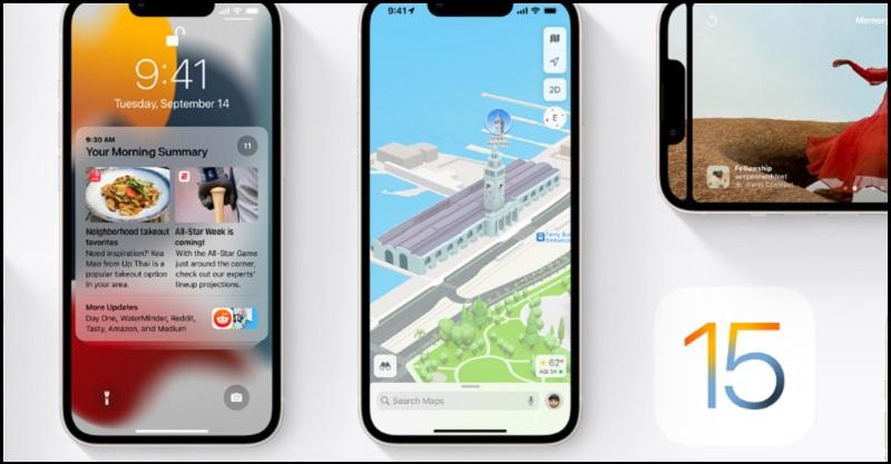 iPhone 13 Series sử dụng hệ điều hành iOS 15 thân thiện, cập nhật nhiều chức năng