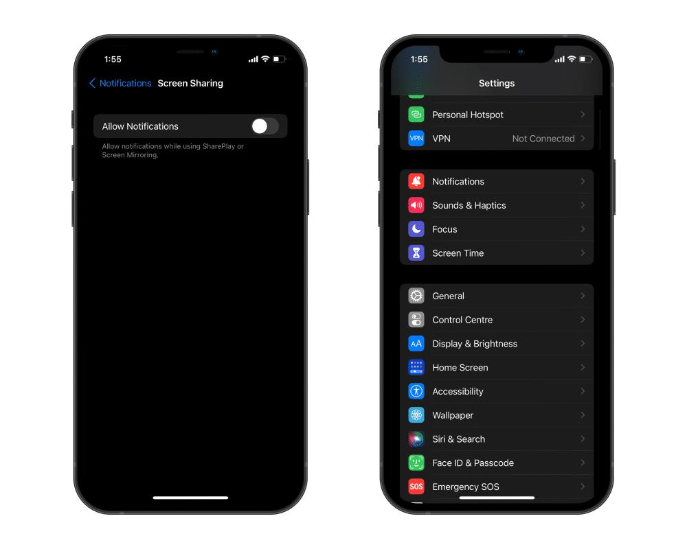 Thông báo mới trên iOS 15 beta 4