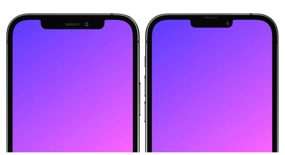 Notch trên iPhone 13 so với iPhone 12