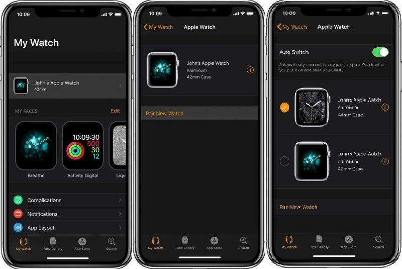 Tắt tự động chuyển đổi apple watch