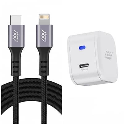 IC18PD + ICL150 - Combo Cáp và sạc nhanh Innostyle USB-C to Lightning MFi 1.5m