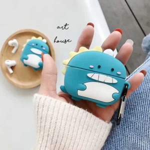 Case Silicon AIRPODS Khủng Long Xanh