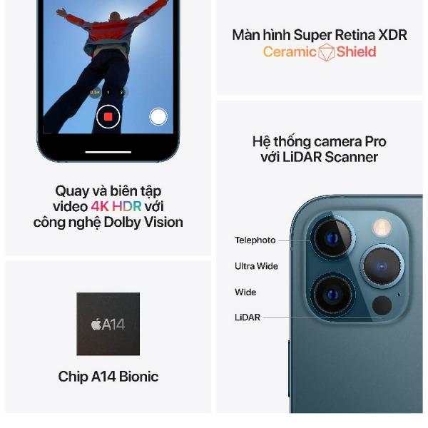 38516 - iPhone 12 Pro Max 256GB - Chính hãng VN A - Trả bảo hành - 7