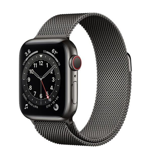 22777 - Apple Watch S6 LTE 44mm - New - Viền thép dây thép - Chính hãng VN A