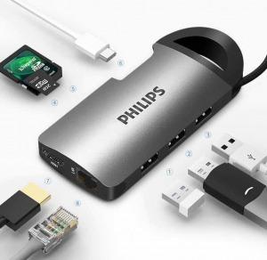 Hub chuyển đổi Philips USB Type-C 8in1 PL5082