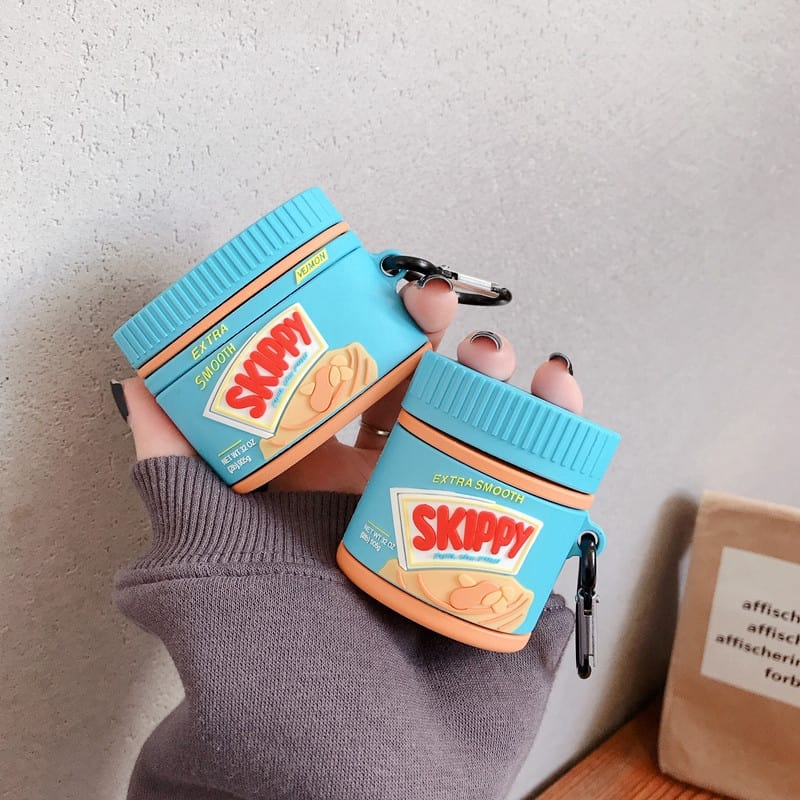 8160 - Case Silicon AIRPODS hình bánh Skippy
