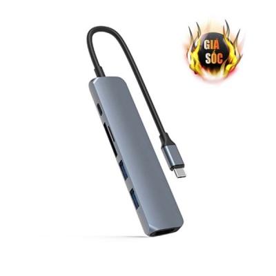 Hub chuyển đổi HyperDrive 6-in-1 USB-C HD22E