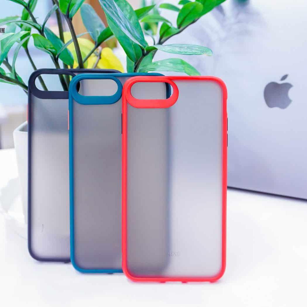 OLBSCS7P - Ốp Basic nhám viền màu iPhone 7Plus 8Plus