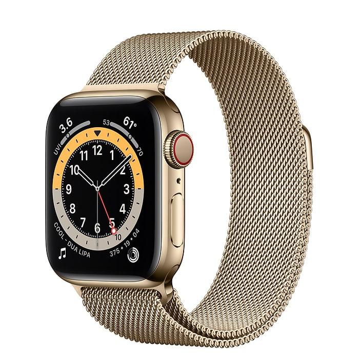 22763 - Apple Watch S6 LTE 40mm - New - Viền thép dây thép - Chính hãng VN A