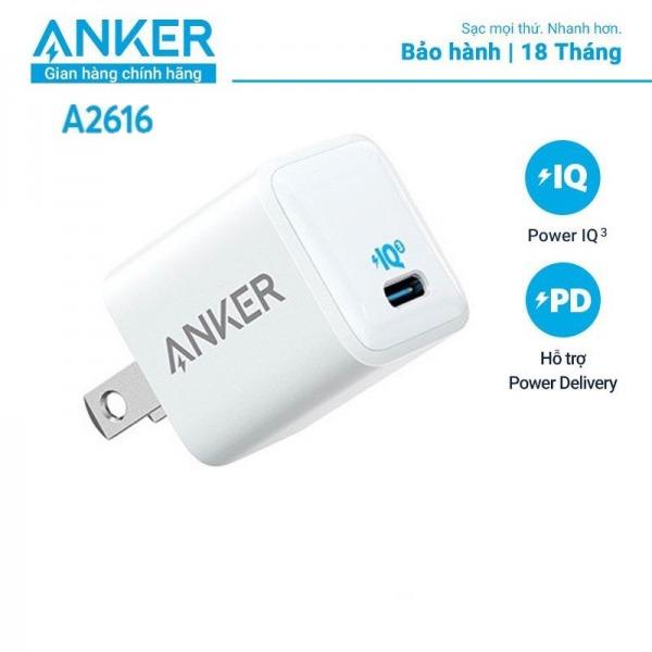 A2616 - Cốc Sạc Type C PD 18W Anker PowerPort III Nano - A2616