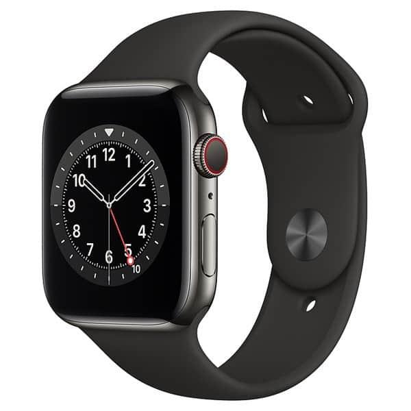 33110 - Apple Watch S6 LTE 44mm - New - Viền thép dây cao su - Chính hãng VN A