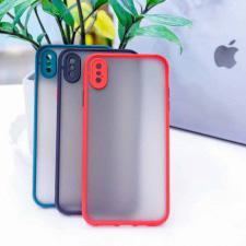 Ốp Basic nhám viền màu iPhone Xs Max