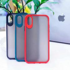 Ốp Basic nhám viền màu iPhone X/Xs
