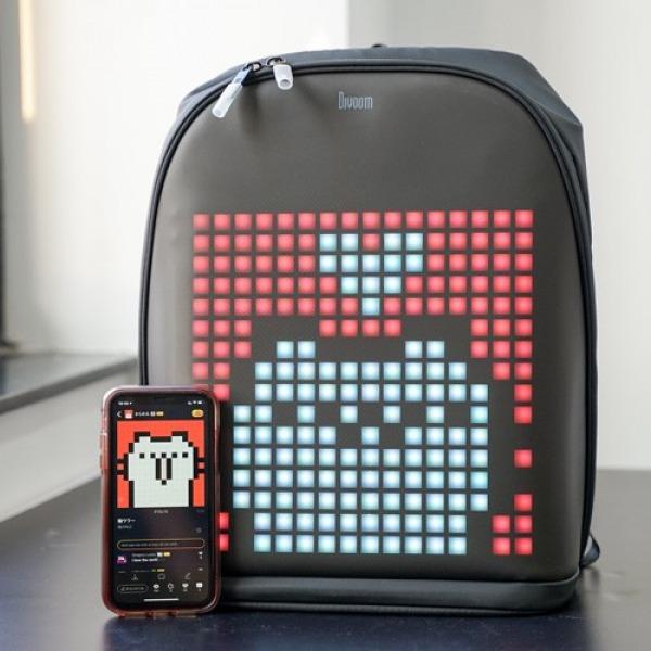 DV1001 - Balo Divoom Pixoo Backpack trang bị màn hình LED cực độc đáo