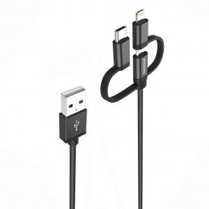 Cáp sạc Micro USB Philips tích hợp đầu chuyển đổi Linghtning và USB-C
