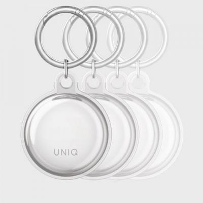 Case Airtag UNIQ Glase Slim TPU Clear -  4 Pack.