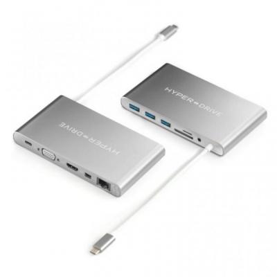Cổng chuyển HyperDrive USB-C Ultimate Hub 11IN1 USB-C GN30 GRAY-SILVER
