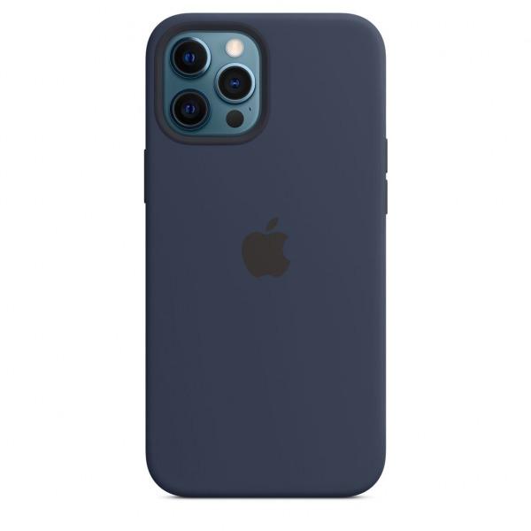 MHLD3ZAA - Ốp Lưng Silicon Apple iPhone 12 ProMax Deep Blue - MHLD3ZA A