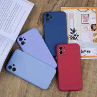Ốp chống bẩn che cam Silicon iPhone 11