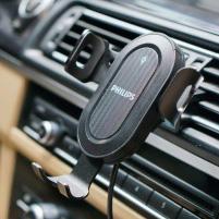 Giá đỡ điện thoại tích hợp sạc không dây xe hơi, ô tô cao cấp Philips DLP9317U
