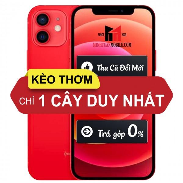 KEOTHOM-IP12DO - [Kèo thơm] iPhone 12 Red 128GB Likenew Fullbox - Chính hãng VN A