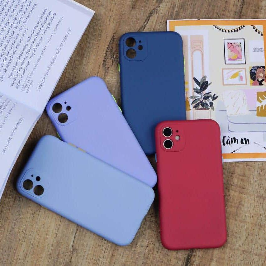 9095 - Ốp chống bẩn che cam Silicon iPhone 11
