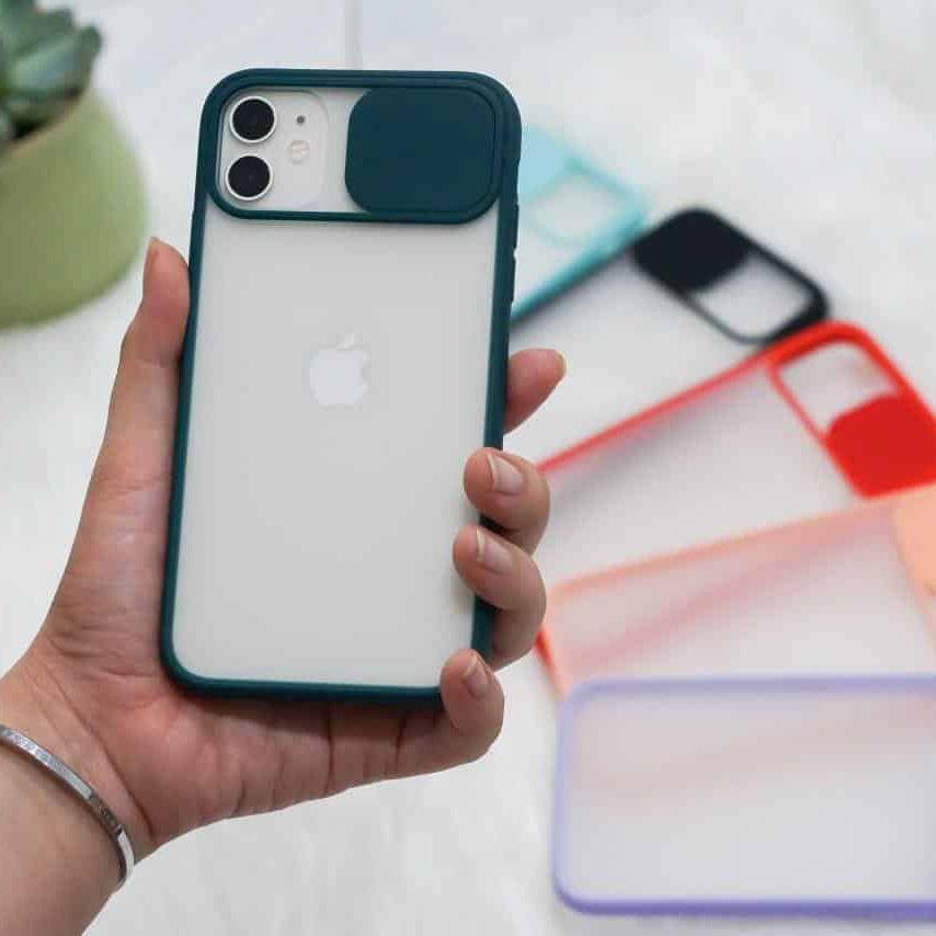 OL0002 - Ốp che cam chống bẩn viền màu iPhone 11