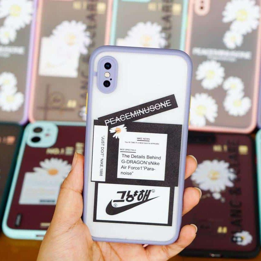 OL0011 - Ốp che cam chống bẩn hoa cúc iPhone Xs X
