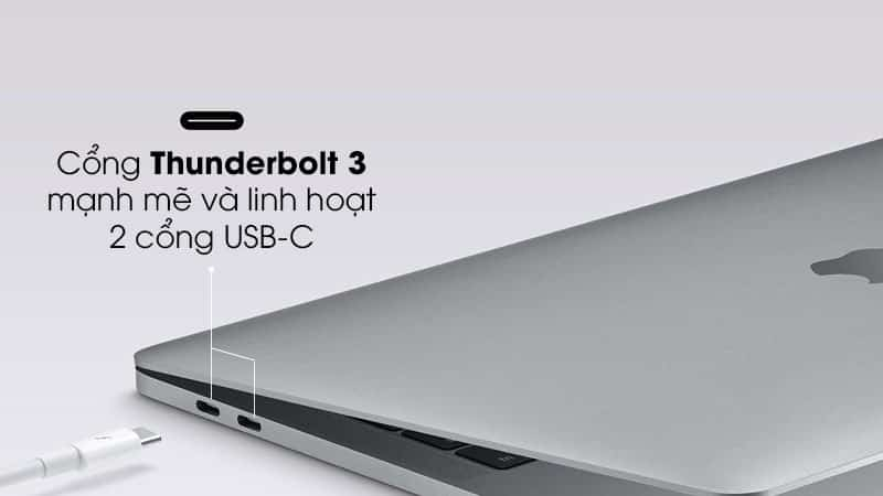 2 cổng Thunderbolt 3 (USB-C)