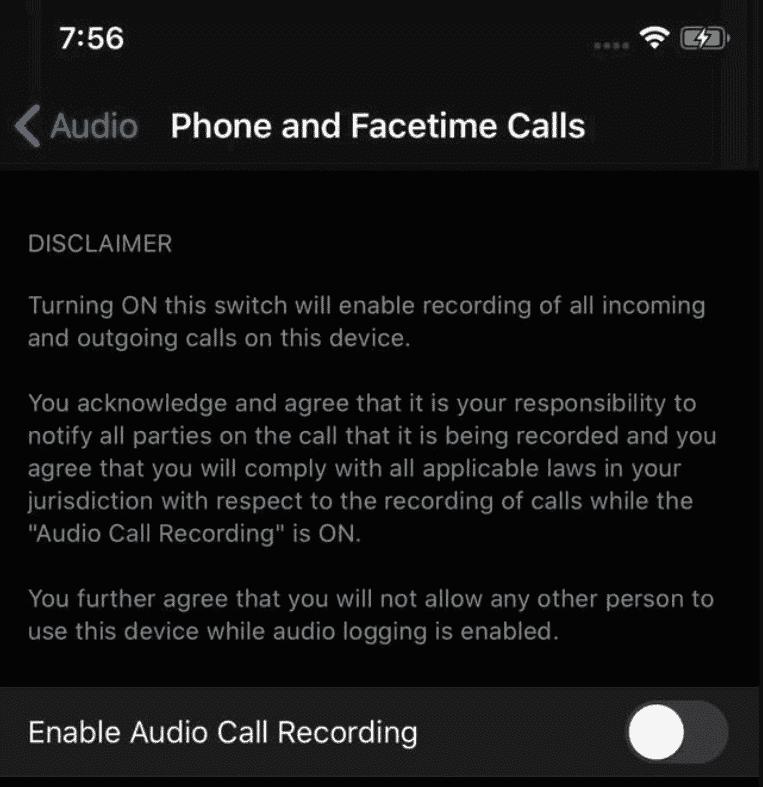 ghi âm cuộc gọi
