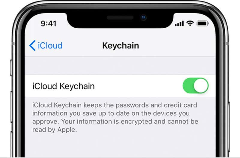 iOS 14 cập nhật iCloud Keychain