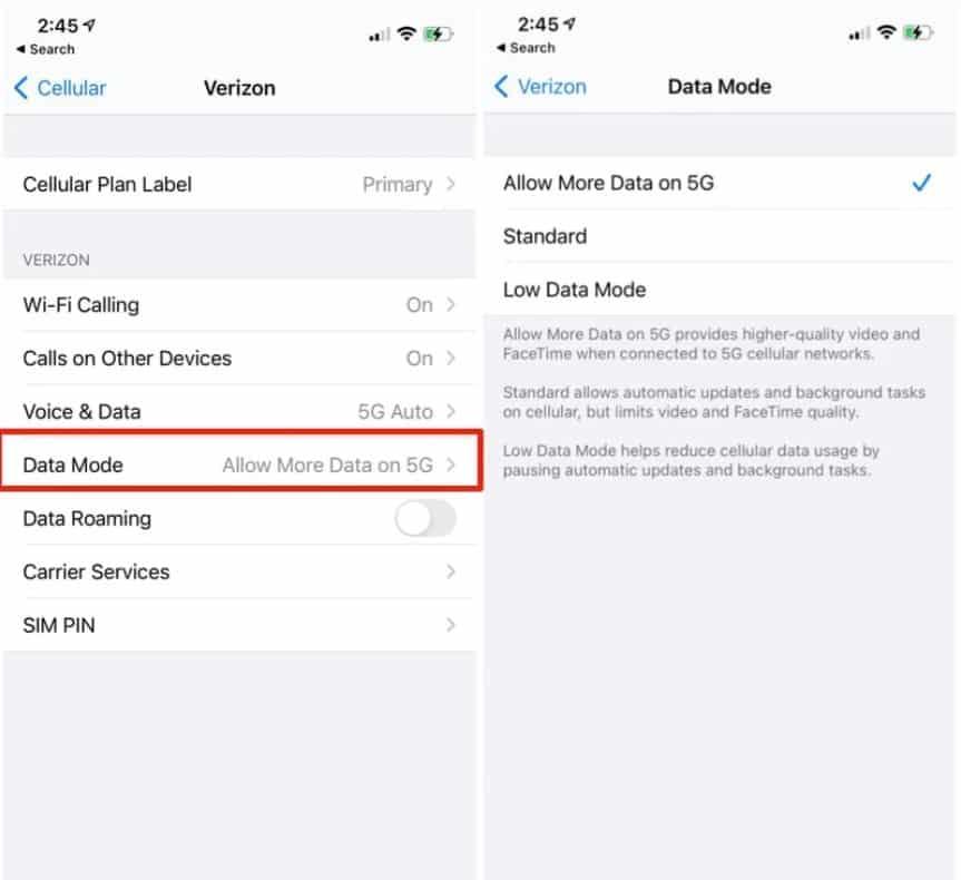 Cách bật 5G trên iPhone 12 Pro Max 7