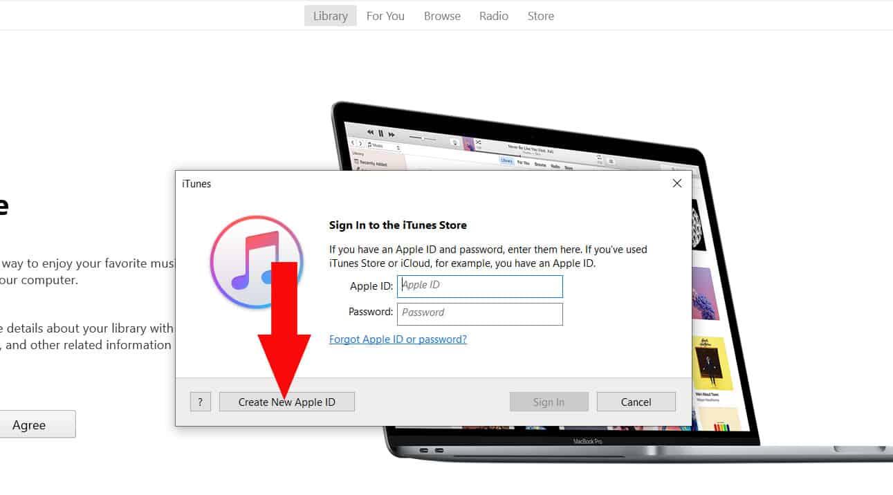 Create New Apple ID