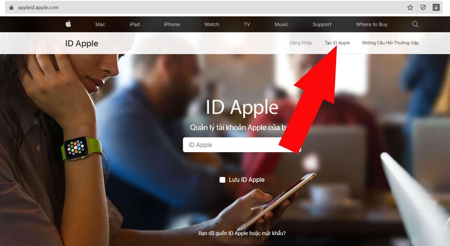 Tạo ID Apple