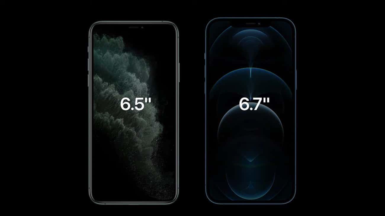 Kích thước màn hình iPhone 11 Pro so với iPhone 12 Pro