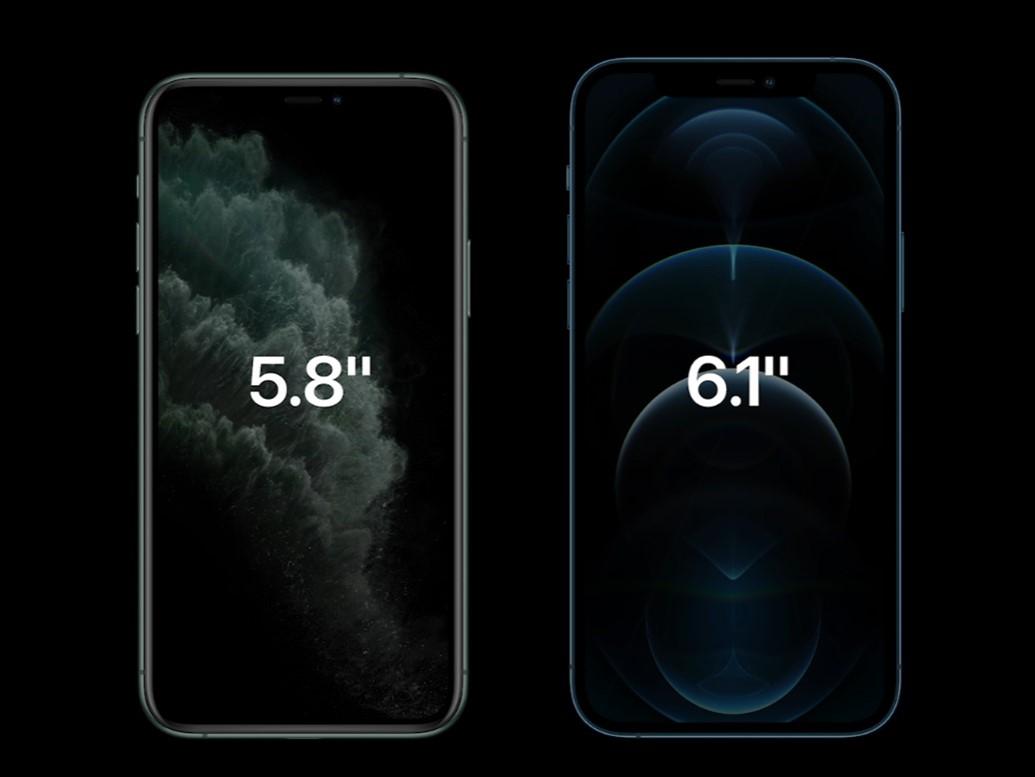 Màn hình iPhone 12 và iPhone X