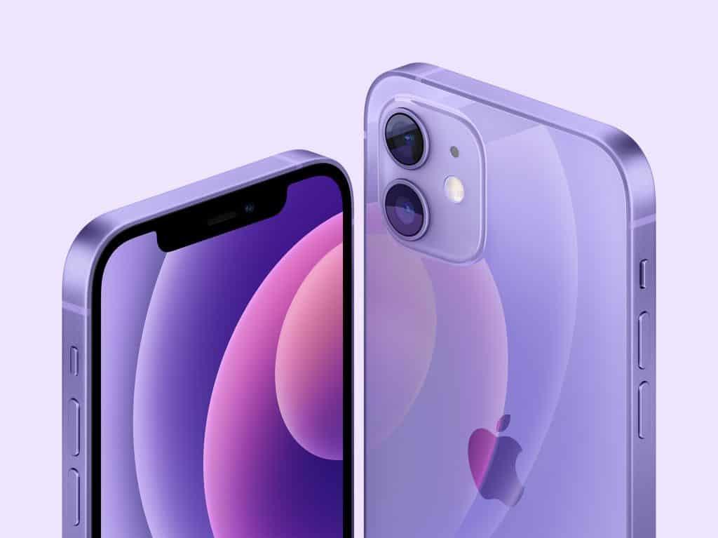 Xuất hiện iPhone 12 và iPhone 12 mini màu Tím mộng mơ